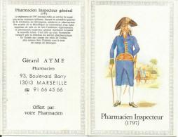 CALENDRIER DE POCHE 1989 - PHARMACIE AYME à MARSEILLE. - Calendarios