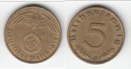 **** ALLEMAGNE - GERMANY - 5 REICHSPFENNIG 1938 J - 3ème REICH - THIRD REICH **** EN ACHAT IMMEDIAT - [ 4] 1933-1945 : Troisième Reich
