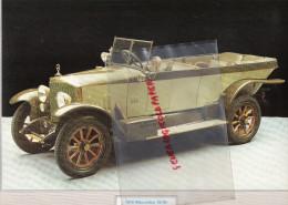 PHOTOGRAPHIE MERCEDES BENZ  16/40 - 1910  - AVEC DESCRIPTIF AU VERSO - Cars
