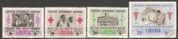 Liberia 1954 Mi# 456-459 Used - Liberian Government Hospital - Liberia