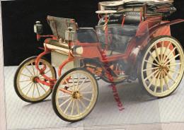 PHOTOGRAPHIE MERCEDES BENZ  VIS A VIS - 1894   - AVEC DESCRIPTIF AU VERSO - Cars