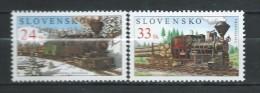 Slovakia 2005 Technical Monuments,Trains,Locomotive,.Mi - 521/22.MNH - Slowakije