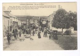 CPA Chissey En Morvan - Un Jour De Foire - Circulée - Francia