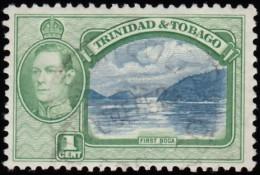 TRINIDAD & TOBAGO - Scott #50 George VI & First Boca (*) / Used Stamp - Trinidad & Tobago (...-1961)