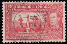 TRINIDAD & TOBAGO - Scott #52A George VI & Mt. Irving Bay (*) / Used Stamp - Trinidad & Tobago (...-1961)