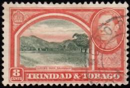 TRINIDAD & TOBAGO - Scott #56 George VI & Queen's Park, Savannah (*) / Used Stamp - Trinidad & Tobago (...-1961)