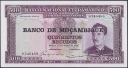 F-EX.1818 PORTUGAL MOÇAMBIQUE MOZAMBIQUE 500 ESCUDOS UNC. - Portugal