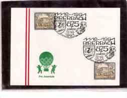 AU637   -   SETTENSTETTEN  12.10.1991  /   875 JAHRE BIBERBACH - Briefmarken