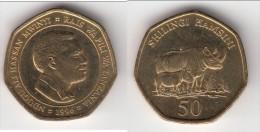 **** TANZANIE - TANZANIA - 50 SHILINGI 1996 - NASSAN MWINYI / RHINOCEROS **** EN ACHAT IMMEDIAT !!! - Tanzanie