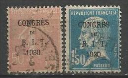 France - N°264 Et 265 - Semeuse Et Pasteur Surchargés Congrès Bureau International Du Travail