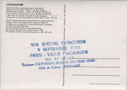 THEME AVION - CONCORDE - VOL SPECIAL 1983 VOIR AU DOS - 1946-....: Modern Tijdperk