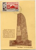 SAINT-PIERRE ET MIQUELON CARTE MAXIMUM DU PA 22  10e ANNIVERSAIRE DE LA LIBERATION OBLITERATION SAINT PIERRE...14-8-1954 - Cartes-maximum