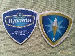 Lote 2 Posavasos Cerveza Bavaria. Lieshout. Holanda - Portavasos
