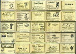 25 Alte Gasthausetiketten Aus Deutschland #161 - Luciferdozen - Etiketten