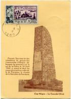 TOGO CARTE MAXIMUM DU PA 22  10e ANNIVERSAIRE DE LA LIBERATION OBLITERATION LOME 14-8-1954 - Brieven En Documenten
