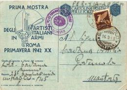 STORIA POSTALE REGNO, CARTOLINA POSTALE FORZE ARMATE, POSTA MILITARE  N.45 COMPAGNIA D' ASSALTO AFF. 50C. CAVALLINO, V72 - War 1939-45