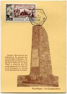 WALLIS ET FUTUNA CARTE MAXIMUM DU PA 14  10e ANNIVERSAIRE DE LA LIBERATION OBLITERATION MATA-UTU 14 AOUT 1954 - Maximum Cards