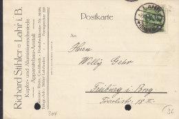 INFLA DR 304 EF, Auf Postkarte Der Fa. Richard Stihler Mit Stempel: Lahr Baden 3.10.1923 - Deutschland