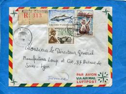 MARCOPHILIE- Lettre-REC-DAHOMEY>-cad-KANDI 1966-3stamps 225 Poisson+181berger+190 Piroguière - Bénin – Dahomey (1960-...)