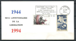 FDC - Env 1er Jour - France - 50 E Anniversaire Du Debarquement - 24 NONTRON - Cachet Du 14-05-94 - WW2