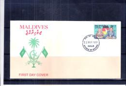 FDC Maldives - Réunification De L'Allemagne (à Voir) - Maldives (1965-...)
