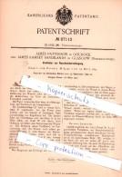 Original Patent  - James Patterson In Gourock Und James Ramsey Sandilands In Glasgow , 1895 , !!! - Renfrewshire