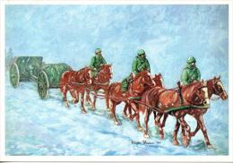 """739 Campagna DI Russa """"Voloire"""" Artiglieria Ippotrainata A Cavallo Cpm Disegno PARDUCCI 1990 - Paracadutismo"""