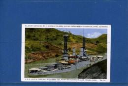 U.S.S. South Carolina In Culebra Cut. South Of Cucaracha Slide, Panama Canal - Guerre