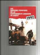 BREST (29) Calendrier 1992 SAPEURS POMPIERS De La Communauté Urbaine - Calendriers