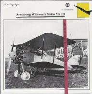 Vliegtuigen.- Armstrong Whitworth Siskin Mk III - Jachtvliegtuigen. -  Groot-Brittannië - Vliegtuigen