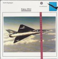 Vliegtuigen.- Fairy FD.2 - Jachtvliegtuigen. -  Groot-Brittannië - Vliegtuigen