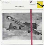 Vliegtuigen.- Gloster F.5/34 - Jachtvliegtuigen. -  Groot-Brittannië - Vliegtuigen