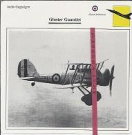 Vliegtuigen.- Gloster Gauntlet - Jachtvliegtuigen. -  Groot-Brittannië - Vliegtuigen