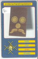 TELEFOONKAART * SFOR * ONDERSCHEIDINGSTEKEN (21) NEDERLAND FL 50,00 Soldiers On Mission LIMITED  * TELECARTE * PHONECARD - Leger