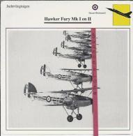Vliegtuigen.- Hawker Fury Mk I En II - Jachtvliegtuigen. -  Groot-Brittannië - Vliegtuigen