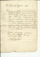 CROATIA  --  FUZINE  --  1808  --  SIGNED GESCHENK VEREINBARUNG FUR LAND EINE KIRCHE IN FUZINE ZU BAUEN Kroatien Fiume - Historical Documents