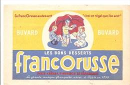 Buvard FRANCORUSSE Les Bons Desserts FRANCORUSSE Pour Crêmes, Poudings Et Pâtisseries - Buvards, Protège-cahiers Illustrés