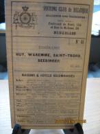 ITINERAIRE TCB N°40 HUY, WAREMME, SAINT-TROND, BEERINGEN - Cartes