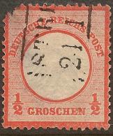 GERMANY 1872 1/2gr Small Shield SG 3 U* #RS41 - Deutschland