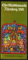 Germany Nürnberg Christkindl Markt 1981 / Christmas / Brochure Prospectus Prospect Booklet Pamphlet - Programs