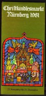 Germany Nürnberg Christkindl Markt 1981 / Christmas / Brochure Prospectus Prospect Booklet Pamphlet - Programas