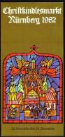 Germany Nürnberg Christkindl Markt 1982 / Christmas / Brochure Prospectus Prospect Booklet Pamphlet - Programmi