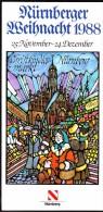 Germany Nürnberg Christkindl Markt 1988 / Christmas / Brochure Prospectus Prospect Booklet Pamphlet - Programme