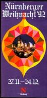 Germany Nürnberg Christkindl Markt 1992 / Christmas / Brochure Prospectus Prospect Booklet Pamphlet - Programme