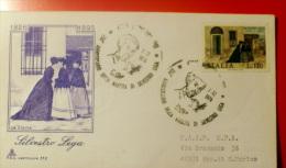 ITALIA 1976 SILVESTRO LEGA FDC VIAGGIATA , TIMBRO DI SAN MARINO RETRO - 6. 1946-.. Republic