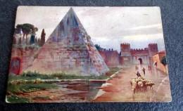 CPA Colorisée - ROMA - La Piramide Di Caio Cestio - 1924 - Roma (Rome)