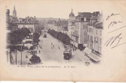 PAU. Rue De La Préfecture. Animée: Tramway. - Pau