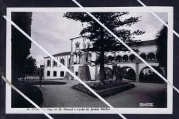 ÉVORA Public Garden And Paço D.Mauel View Architecture 1950's Real Photo Mint Postcard Portugal 5709 - Evora