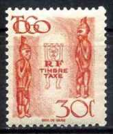 TOGO 1947 (**) - Mi. 39, Taxe | Images Of Gods | Statues - Idols - Unused Stamps
