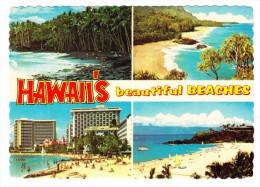 Hawaii's Beautiful Beaches Postcard - Honolulu